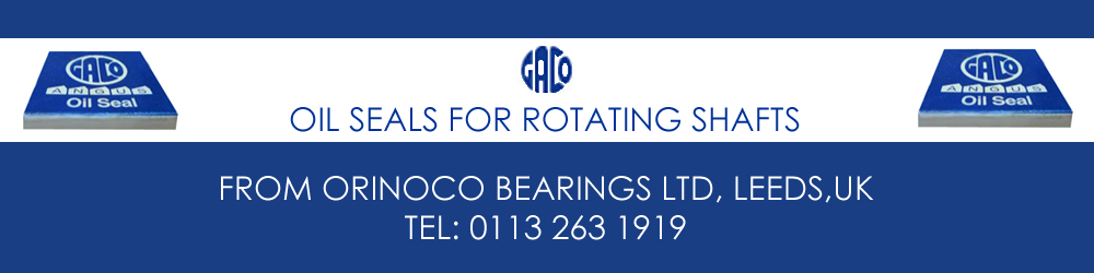 Original Gaco Oil Seals from Orinoco Bearings, Leeds, UK.